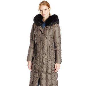 NWT Via Spiga Maxi Coat w/ Removable Hood